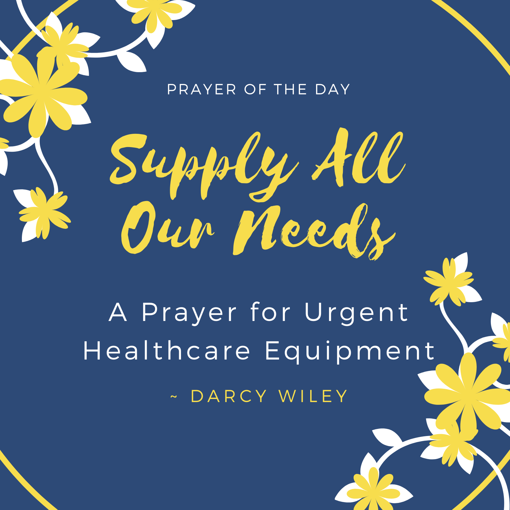May 5 ~ Supply All Our Needs
